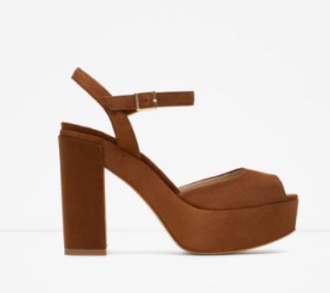 Zara platform sandal 39,99€