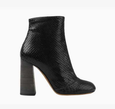 Chloe ankle boot in python 650€
