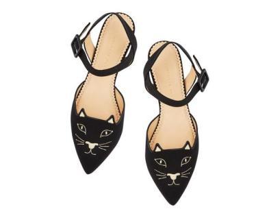 Charlotte Olympia kitty slingback 565$