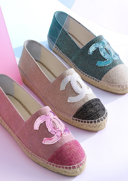 Chanel Espadrilles with different colours
