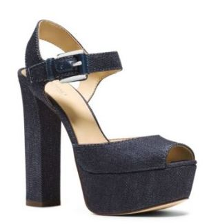 London denim peep-toe sandal - MK (140$)